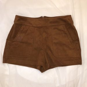 Forever 21 faux suede shorts